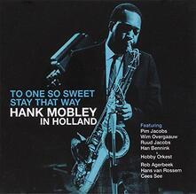 One so Sweet - CD Audio di Hank Mobley