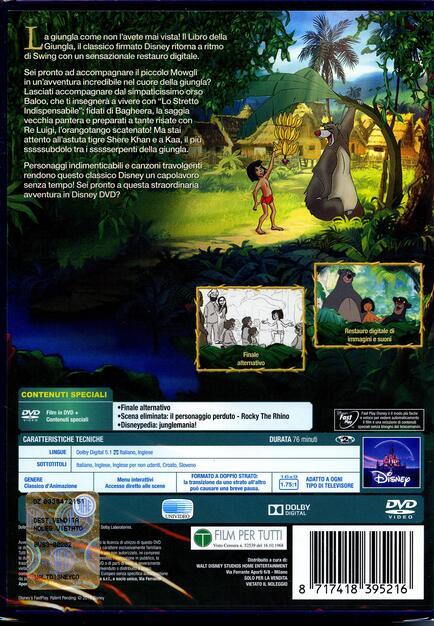 Il libro della giungla dvd film di wolfgang reitherman
