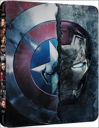 Cover Dvd Captain America. Civil War 3D (Steelbook) (Blu-ray)