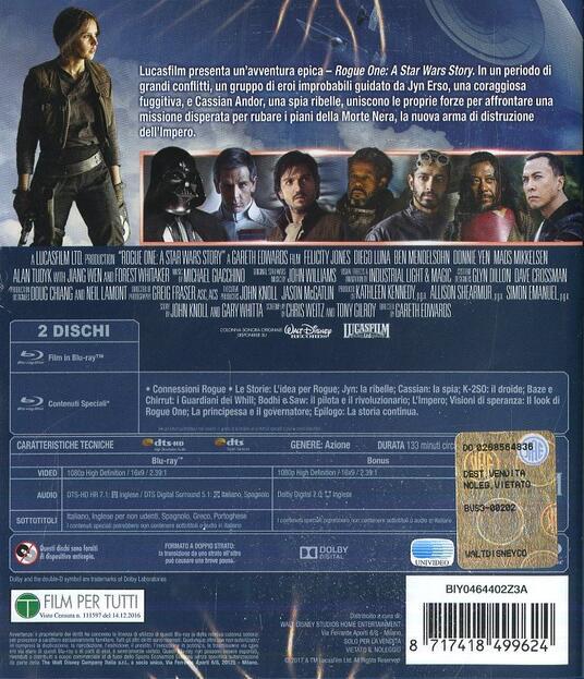 Rogue One: A Star Wars Story (2 Blu-ray) di Gareth Edwards - Blu-ray - 2