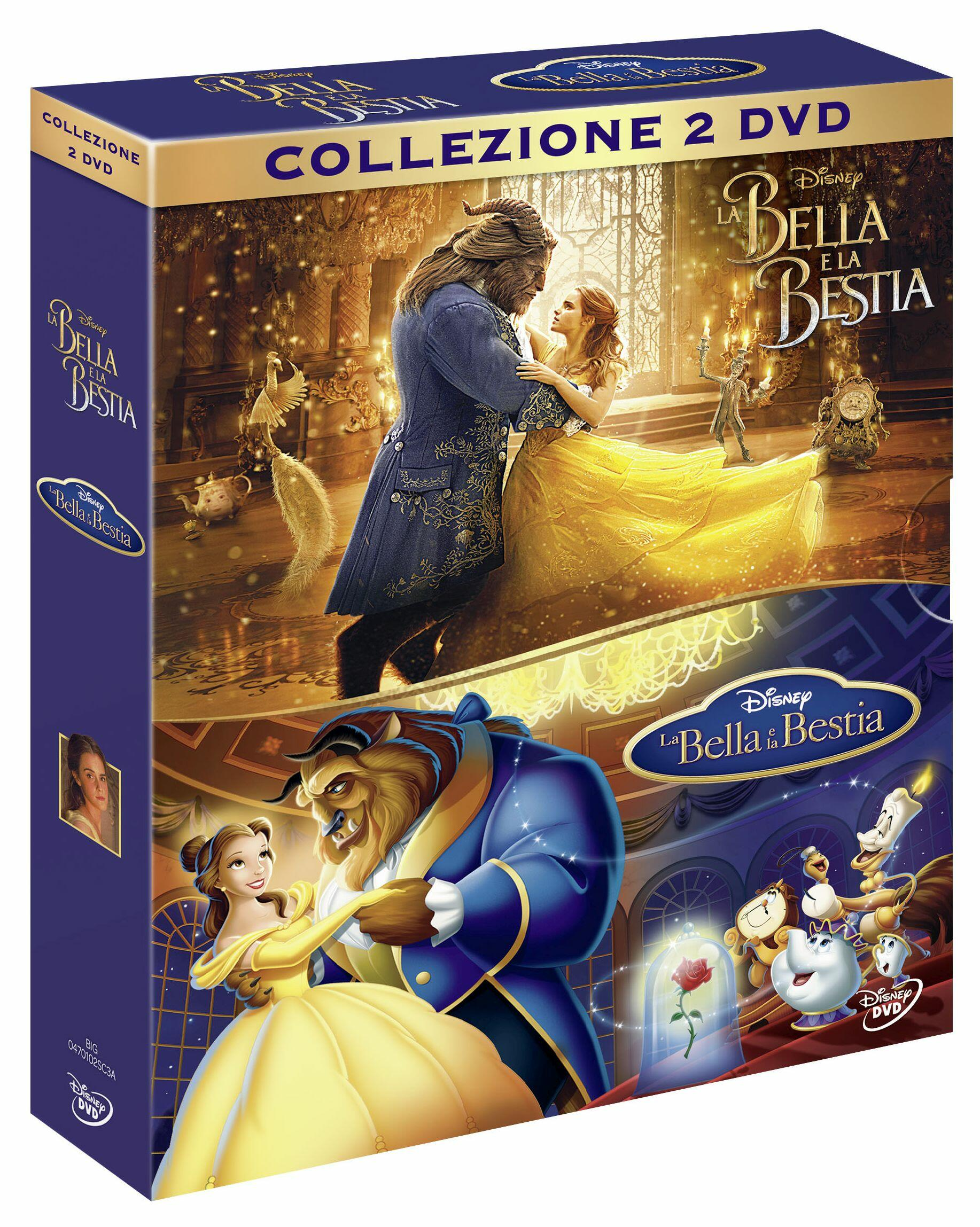 La bella e bestia live action cartone animato dvd