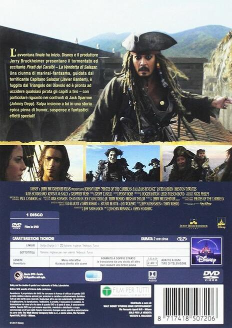 Pirati dei Caraibi. La vendetta di Salazar (DVD) di Joachim Roenning,Espen Sandberg - DVD - 2