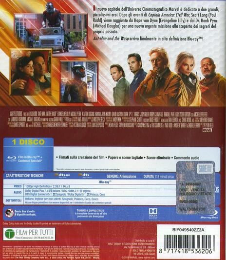Ant-Man and the Wasp (Blu-ray) di Peyton Reed - Blu-ray - 2