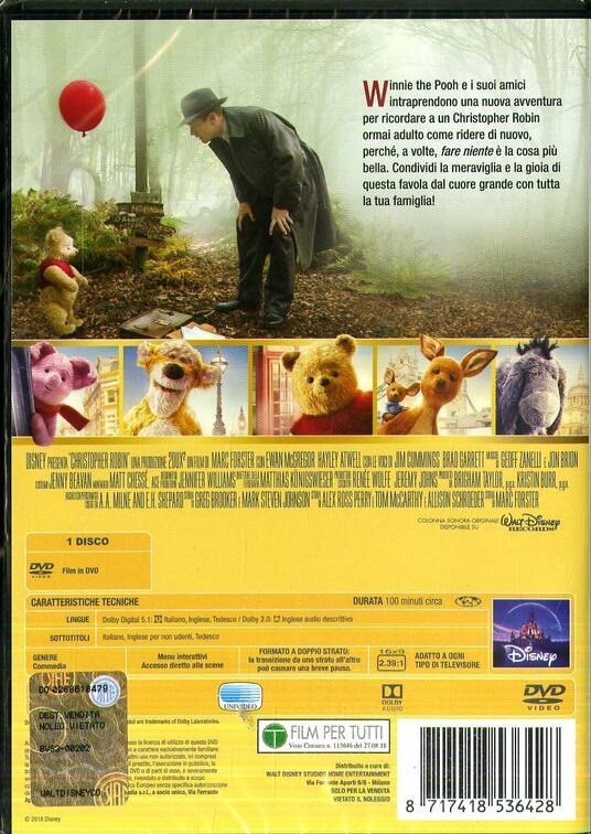 Ritorno al bosco dei 100 acri (DVD) di Marc Forster - DVD - 2