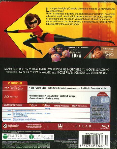 Gli Incredibili 2. Con Steelbook (Blu-ray + Bonus Disc) di Brad Bird - Blu-ray - 2