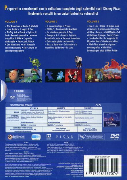 5669ebde6f4d I corti Pixar Collection. Volumi 1