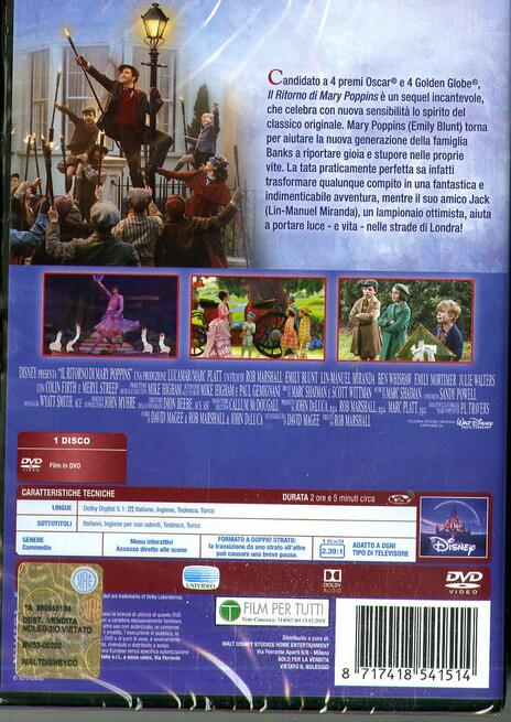 Il ritorno di Mary Poppins (DVD) di Rob Marshall - DVD - 2