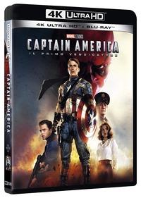 Cover Dvd Captain America. Il primo vendicatore (Blu-ray + Blu-ray Ultra HD 4K)
