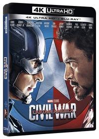 Cover Dvd Captain America. Civil War (Blu-ray + Blu-ray Ultra HD 4K)