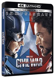 Captain America. Civil War (Blu-ray + Blu-ray Ultra HD 4K) di Anthony Russo,Joe Russo - Blu-ray + Blu-ray Ultra HD 4K