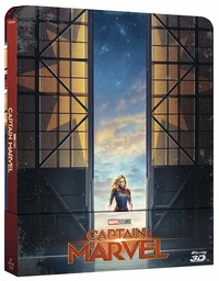 Cover Dvd Captain Marvel. Con Steelbook (Blu-ray + Blu-ray 3D)