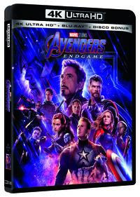 Cover Dvd Avengers. Endgame (Blu-ray + Blu-ray 4K Ultra HD)