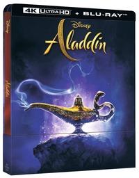 Cover Dvd Aladdin. Con Steelbook (Blu-ray + Blu-ray 4K Ultra HD)