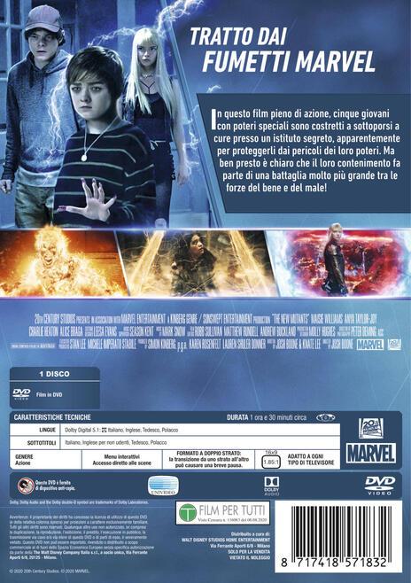 The New Mutants (DVD) di Josh Boone - DVD - 2