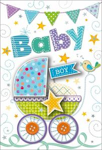 Biglietto baby Boy Stitched occasioni speciali