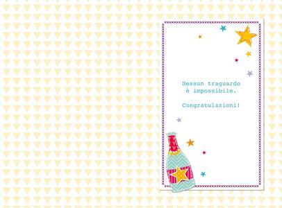 Biglietto laurea Stitched occasioni speciali. Calici - 2