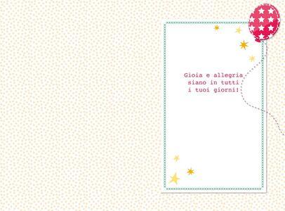 Biglietto compleanno Stitched White. Pacchetti - 2