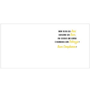 Biglietto compleanno 3D A Splash of Colour generico. Donut - 2