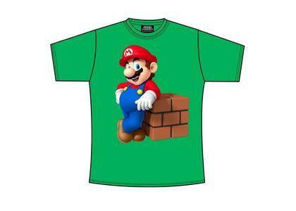 T-Shirt Nintendo. Mario Block Green