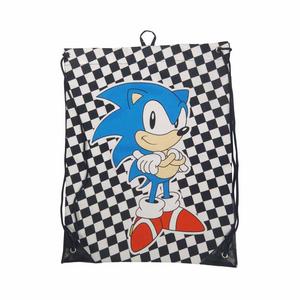 Cartoleria Sacca da Ginnastica Sega. Checkered Sonic Gymbag Bioworld