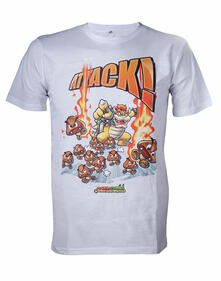 T-Shirt Nintendo. White. Attack!