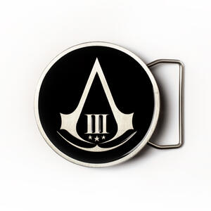 Fibbia Assassin's Creed III. Black Round Buckle
