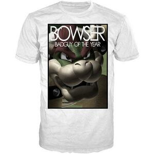 T-Shirt Nintendo. Bowser Badguy Of The Year. White