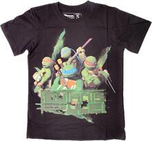 T-Shirt bambino New Teenage Mutant Ninja Turtles. Black Mutants Rule