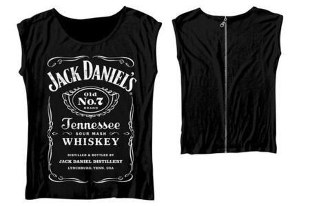 T-Shirt donna Jack Daniel's. Back Zipper