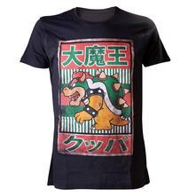 T-Shirt Nintendo. Black. Bowser Kanji Mens T-shirt