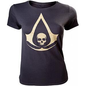 T-Shirt Donna Assassin's Creed Iv. Black. Female T-shirt
