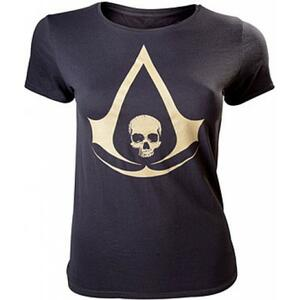 T-Shirt Donna Assassin's Creed Iv. Black. Female T-shirt