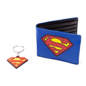 Confezione Regalo Superman. Portafoglio + Portachiavi