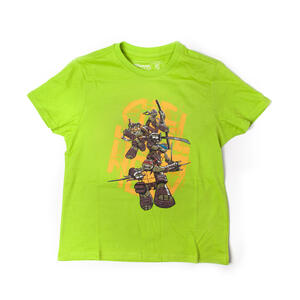 T-Shirt Bambino Turtles. Green. Shellheads T-shirt
