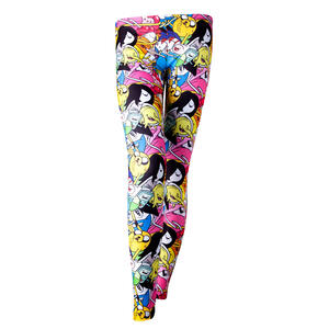 Leggings Adventure Time. All Over Print Black