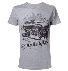 T-Shirt unisex Ford. Grey Melange. Mustang Black Print