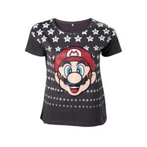 T-Shirt Nintendo. Mario Black With Stars