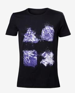 T-Shirt unisex Playstation. Grafitti Buttons Artwork Black