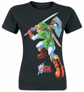T-Shirt Donna Nintendo. Zelda Ocarina Of Time Female Tee