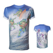 T-Shirt Turtles. Allover Surfing Turtles Men's Tee Sublimation