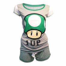 Pigiama Corto donna Nintendo. Shortama Mushroom 1 Up