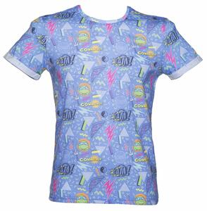 T-Shirt Turtles. Men T-shirt Sublimation Blue Print