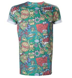 T-Shirt Turtles. Men T-shirt Sublimation Print All Over Green