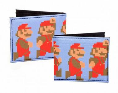 Portafoglio Nintendo. Running and Jumping Pixel Mario