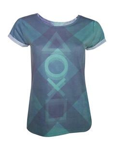 T-Shirt donna Playstation. Subblimation