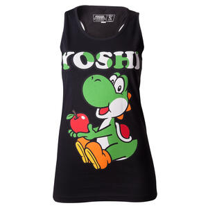 Canottiera Donna Nintendo. Yoshi. Black. Girl's Top