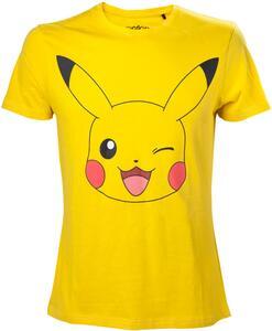 T-Shirt unisex Pokemon. Pikachu Print Yellow