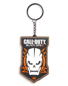 Portachiavi Call Of Duty Black Ops 3. Rubber Keychain With Logo