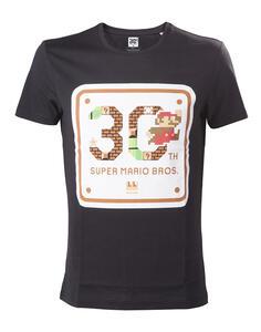 T-Shirt unisex Nintendo Mario 30th Anniversary Black
