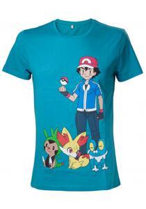 T-Shirt unisex Pokemon. Green With Print